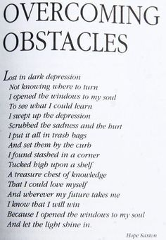 Overcoming Obstacles...Doing the right thing and with God's grace you always are the WINNER!+