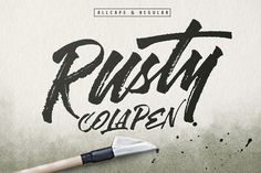 Rusty Cola Pen by maghrib on Creative Market