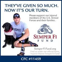 Injured Marine Semper Fi Fund has joined the CrowdRise Veterans Charity Challenge.