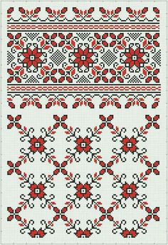 Blackwork Embroidery, Folk Embroidery, Cross Stitch Embroidery, Embroidery Patterns, Cross Stitch Charts, Cross Stitch Designs, Cross Stitch Patterns, Palestinian Embroidery, Knitting Charts