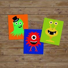 Monster Art Kids Bedroom Nursery Wall Art Nursery by KryderPrints, $35.00