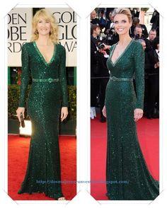 Un vestido de Andrew Gn Resort 2012 se lo vimos a Laura Dern en los Globos de Oro; después se lo vimos a Sylvie Tellier en el Festival de Cannes.