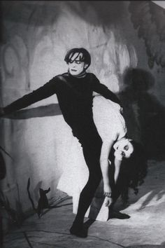 The Cabinet of Dr. Caligari a German expressionist horror film about a madman who uses a somnambulist to murder people for him. Dr Caligari, Harlem Renaissance, Conrad Veidt, Film Science Fiction, Tv Movie, Fritz Lang, Cinema, Film Inspiration, Punk Goth
