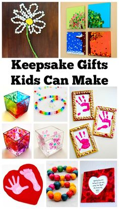 Each of these keepsake gifts kids can make comes with a full tutorial. They are a perfect gift idea for birthday's, Christmas, Mother's Day, Father's Day, or any other special occasion! Gift Ideas | DIY Projects | Kids Crafts | Kid-Made Gifts