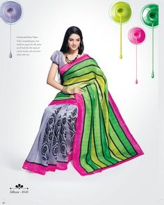 Strollay Saree with Un-Stitched Blouse
