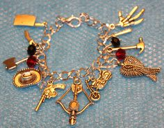 Walking Dead Inspired Bracelet Cross Bow Wings by musicissanity, $9.99