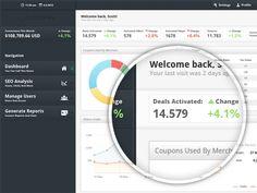 web ui layout charts data