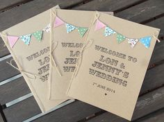 Rustic Order of service booklets by FromLeoniWithLove,