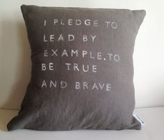 LINEN QUOTE PILLOWS by Casa and Co