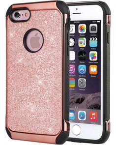iPhone 6S Plus Case, iPhone 6 Plus Case, BENTOBEN Glitter Sparkly Faux Leather 2 #BENTOBEN