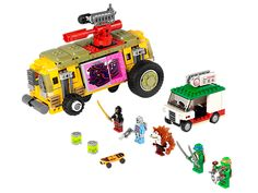 The Shellraiser Street Chase from Lego - a great selection of Lego construction sets at Wonderland Models. One of our favourite sets in the Lego Teenage Mutant Ninja Turtles range is the Shellraiser Street Chase. Buy Lego, Lego Dc, Lego Clones, Lego City Police, Lego Construction, Lego Technic, Teenage Mutant Ninja Turtles, New Toys, Lego Sets