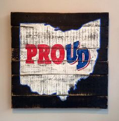 University of Dayton / Dayton Proud Wall Hanging on Etsy, $40.00