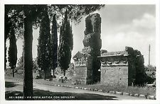 Italy Real Photo Postcard Roma Rome - Via Appia Antica con Sepolcri Appian Way, Photo Postcards, Old Photos, 1930s, New York Skyline, Italy, Travel, Rome, Places
