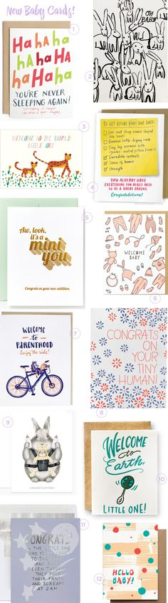 New Baby Card Round Up / Oh So Beautiful Paper