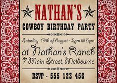 "Cowboy Party Invitation    Mother Duck Said: ""Lets Party!"": Cowboy Party Printables"