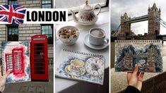 England, London, Tower Bridge - OszlánszkiART Tower Bridge, England, Watercolor, London, Drawings, Etsy, Instagram, Pen And Wash, Watercolor Painting