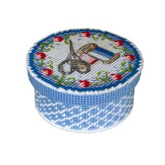 sewing basket plastic canvas free patterns to by SmartCrossStitch