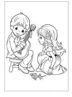 Precious Moments Ausmalbilder. Malvorlagen Zeichnung druckbare nº 3