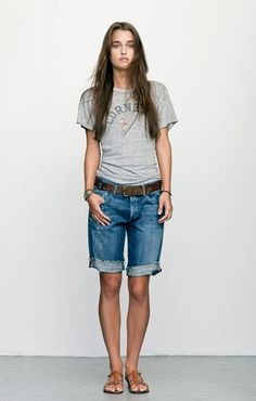 Image result for long cut off shorts outfit