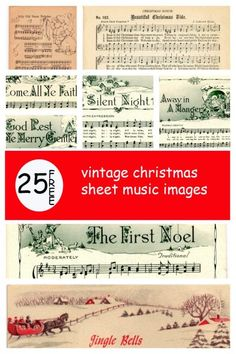 christmas printables Make your holiday decorating and gift giving easy with these free printable vintage Christmas sheet music pages! Just print and frame for easy decor and gifts. Vintage Christmas Crafts, Noel Christmas, Christmas Projects, Winter Christmas, Holiday Crafts, Vintage Crafts, Vintage Christmas Images, Christmas Nativity, Music Christmas Ornaments