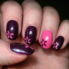 #nails #design #pink #purple #spring