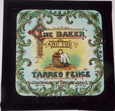 THE BAKER & THE TARRED FENCE BOXED SET OF 12 ANTIQUE MAGIC LANTERN SLIDES c1890