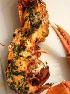 Roasted lobster with tarragon butter- Homard rôti au beurre d& Roasted lobster with tarragon butter - Seafood Dinner, Fish And Seafood, Shellfish Recipes, Seafood Recipes, Cuisine Diverse, Lobster Recipes, Christmas Dishes, Savoury Dishes, Original Recipe