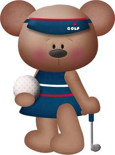 GOLFING TEDDY BEAR *