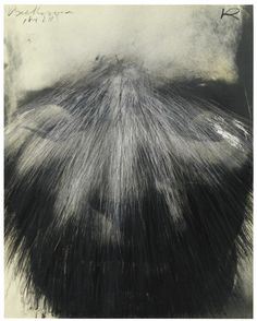 Arnulf Rainer (Austrian b. 1929 ) Totenmaske (Beethoven) [Death Mask (Beethoven)] Oil and oil stick on photograph x cm. Arnulf Rainer, Geometric Art, Face And Body, Art Day, Insta Art, Painting & Drawing, Pop Art, Abstract Art, Fine Art