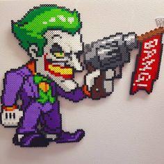 The Joker perler beads by perlpop