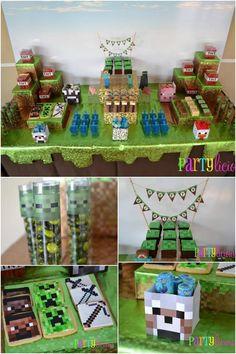 Minecraft Birthday Party Dessert Table Ideas