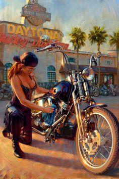 d10082b9681c2 David Uhl Studios - Amazing art!! Lady Biker