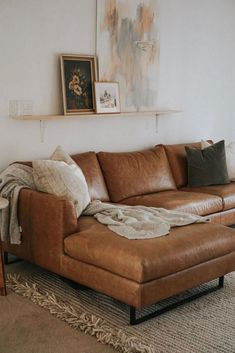 50 Ideas Decor Ideas For The Home Living Room Storage Living Room Update, My Living Room, Living Room Decor, Corner Sofa Living Room Layout, Sofa Layout, Cozy Living, Simple Living, Modern Living, Brown Leather Couch Living Room