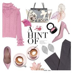 """""""Pink Fall"""" by heather-reaves ❤ liked on Polyvore featuring Gucci, Valentino, Martha Stewart, MAC Cosmetics and Humble Chic"""
