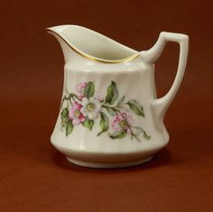 Apple Blossom Creamer Syracuse China Vtg by charmings on Etsy