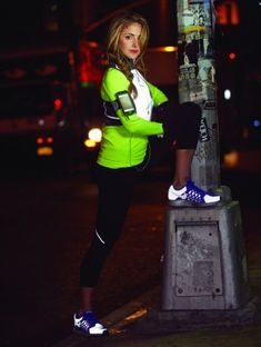 """Set the night on fire with running gear that screams, """"Here I come!"""" Check out this reflective apparel."""