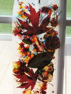 Leaf art projects for kids sun catcher ideas Thanksgiving Crafts, Fall Crafts, Diy Crafts, Thanksgiving Decorations, Holiday Decorations, Fall Art Projects, Projects For Kids, Craft Projects, Diy Ribbon