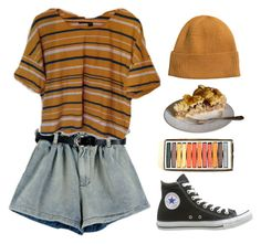 """Untitled #2429"" by lbenigni ❤ liked on Polyvore featuring H&M and Converse"