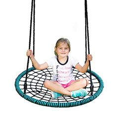 Play Platoon Spider Web Tree Swing Kit - 40 Inch Diameter, 600 lb Weight Capacity, Fully Assembled, Easy to Install