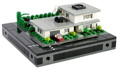 LEGO Microscale Bungalow - Front view (by T.Oechsner)