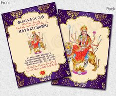 Mata ki chowki invitation google search card pinterest weddings mata ki chowki invitation digital file metro events by metroevents 798 stopboris Image collections