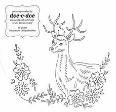 1000 images about Embroidery Deer on Pinterest Deer