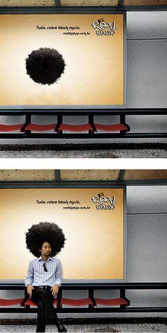 Mídia Exterior - Real HipHop Creative Billboard Advertising