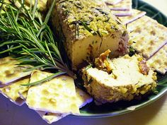 Herb-and-Nut-Encrusted Cheese Log (Vegan and Gluten-Free)