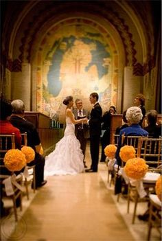 This wedding has always been my favorite, it had such amazing style. I'd love a ceremony in the guardian building.