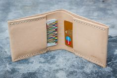 Minimalista billetera monedero carpeta de cuero por WernerManuel
