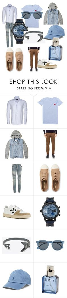 """""""#get#ready#for#the#fun#"""" by hannazakaria ❤ liked on Polyvore featuring Stone Rose, Comme des Garçons, Hollister Co., Ted Baker, Balmain, Prada, Off-White, POLICE, Maison Margiela and Topman"""