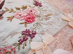 Embroidery, ribbonwork, lace, bows, etc. etc!  <3
