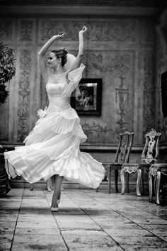 Freedom shot in a wedding gown