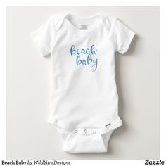 Beach Quote Baby All In One Bodysuit